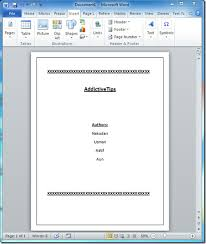 How To Make A Title Page Apa In Word Best Ideas Of How To Make An Apa Cover Page In Word 2010 Ms Word Apa