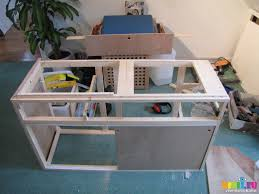 sx09714 frame of campervan kitchen unit