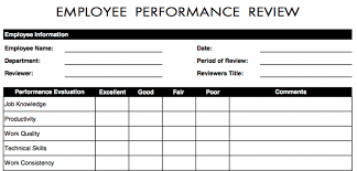 Easy Performance Review Template Employee Performance Review Template Easy Employee Evaluation Form