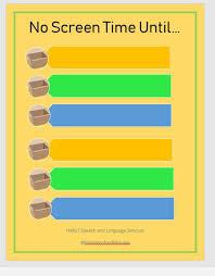 Screen Time Checklist Reward Chart Download Printable Pdf Kids Teens Autism Adhd Tv Phone Ipad