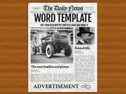 Old Fashion Newspaper Template Newspaper Template Worksheets Teaching Resources Tpt
