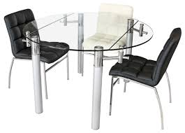 extendable glass dining table round