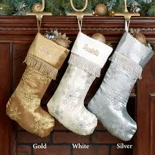 snowflake christmas stockings. Contemporary Snowflake Elegant Snowflake Embroidered Christmas Stockings  Stocking Touch To Zoom To Stockings Z