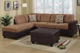 faux leather sectional. Hagan Saddle Faux Leather Sectional Sofa \u2013 Steal A Furniture With Sofas