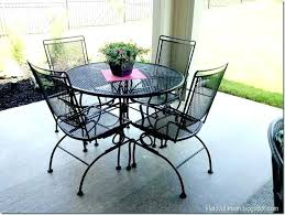 black wrought iron furniture. Black Wrought Iron Patio Furniture Tables Chairs Spray Painted H