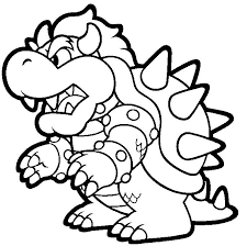 Bowser Mario Nintendo Coloring Coloring Pages Mario Coloring