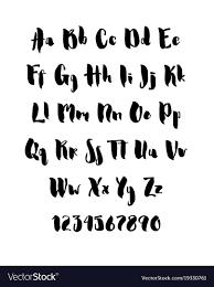 Handwritten Brush Style Modern Cursive Font