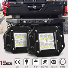 Defender Flood Lights Details About 2pcs Flush Mount 18w Flood Rear Bumper Led Lights For Can Am Defender Hd8 Hd10