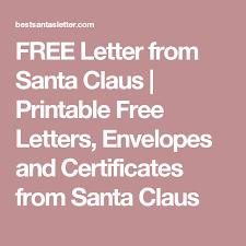 Santa Claus Printables Free Letter From Santa Claus Printable Free Letters Envelopes And