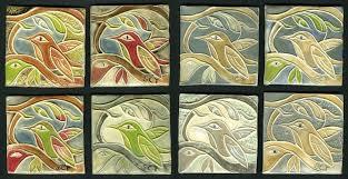branching birds handmade ceramic tiles manufacturers a tile