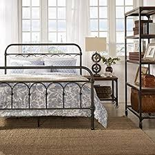 vintage metal bed frame. Perfect Frame Vintage Metal Bed Frame Antique Rustic Dark Bronze Cast Knot Headboard  Footboard Retro Country Bedroom Furniture Throughout Amazoncom