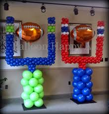 Sports Themed Balloon Decor Seattle Seahawks New England Patriots Goal Post Balloon