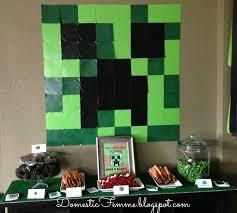 domestic femme minecraft birthday party on minecraft ebderman creeper diy removable vinyl decals wall d
