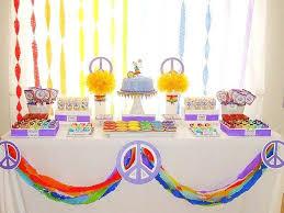 Peace Sign Birthday Decorations