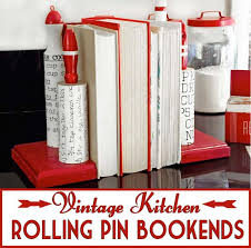 image vintage kitchen craft ideas. Cool DIY Room Decor Ideas In Red - Vintage Kitchen Rolling Pin Bookends Creative Home Image Craft 0