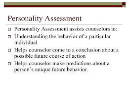 Personality assessment essay