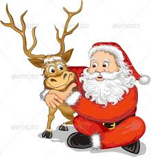 santa claus and reindeer. Contemporary Santa Santa Claus And Reindeer With And S