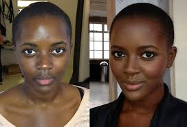 contour kit makeup looks on dark skin image