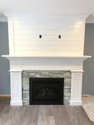 our craftsman style fireplace with shiplap mantel fireplace shiplapy craftsman