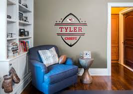 kansas city chiefs personalized name fathead wall decal