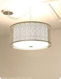 drum shade lighting from lighting fixture for laundry room