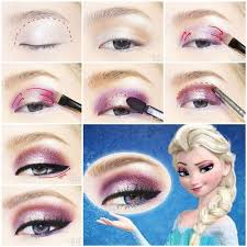 diy disney s frozen elsa eyeshadow with hair styled like this too pretty for prom