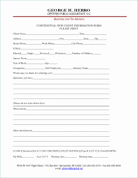 Customer Form Template Information Forms Template Practical Customer Information Form
