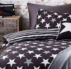 stars stripes usa single duvet cover set bedroom black grey reversible bed gr8 1 of 4free