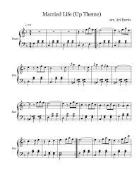 Touch device users, explore by touch or with swipe gestures. Married Life Free Sheet Music By Michael Giacchino Pianoshelf