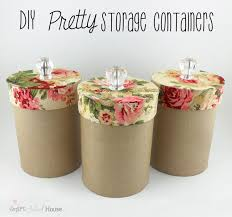 diy pretty storage containers