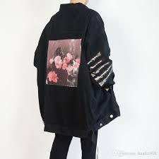 Raf Jacket Size Chart Raf Simmons 18ss Denim Jacket Shirt Pvc Tape Asap Rocky Style Long Sleeve Jacket Catwalk Show Product Free Ship Hflsjk098