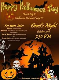 Word Halloween Templates Party Flyers Templates Free Halloween Poster Template Word