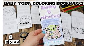 Baby yoda coloring pages is the baby boy spoken in the mandalorian in the star wars disney television serial. 6 Free Baby Yoda Coloring Bookmarks For Reading Fun Rock Your Homeschool