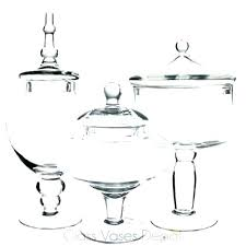 candy buffet jar set apothecary glass container for jars of three 3 candy buffet jar set glassware clear glass