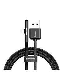 Кабель USB-iP <b>Baseus Iridescent Lamp</b> CAL7C-A01 Black 1m 2.4A