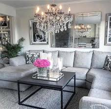gorgeous glam grey living room