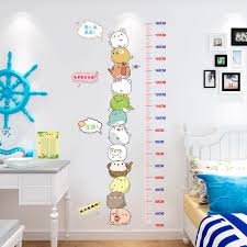 Classroom Wall Decoration With Charts Childrens Height Stickers Room Decoration Wall Stickers