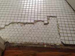redo bathroom floor. My Wife And I Wanted To Redo Our 1920s Bathroom With More Time-appropriate Hexagon Tile. An Hour In, See This. Floor D