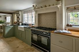 image of modern farrow and ball kitchen cupboards