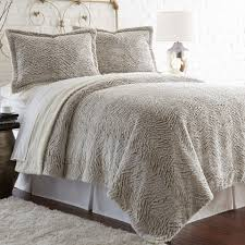 pacific coast textiles king 3 piece faux fur sherpa comforter set in