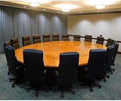 perfect office round meeting table what your conference table says about your office