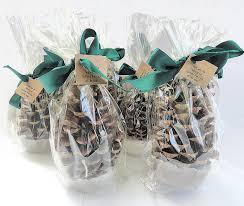 Pine Cone Wedding Table Decorations 50 Fire Starter Pine Cones Individual Clear Gift Bags