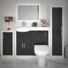 bathroom furniture sets. Exellent Sets Apollo Bathroom Fitted Furniture Set Black Inside Sets