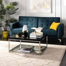 latest gloss coffee tables inside safavieh malone chrome high gloss black coffee table fox2214b gallery