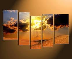 5 piece art home decor landscape huge pictures desert canvas photography orange on sunset wall art canvas with 5 piece artwork landscape canvas photography desert multi panel