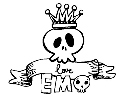 Small Picture Love Emo coloring page Coloringcrewcom