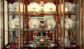 China Cabinet Display Stands Decor Decorating a China Cabinet The Enchanted Manor 2