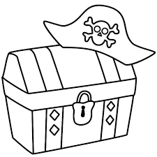 Treasure Coloring Pages Treasure Chest Coloring Page Pirate Treasure