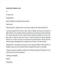 Board Member Resignation Letter Board Member Resignation Letter