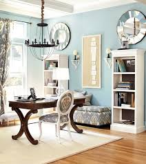 blue home office. Light Blue Home Office With Gray Accents